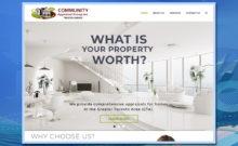 Community Appraisal Group, Home Page, real estate appraiser, WordPress website, website development, website design