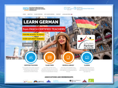 Friedrich Schiller Schule, wordpress website, dual language website, teaching website, language school website