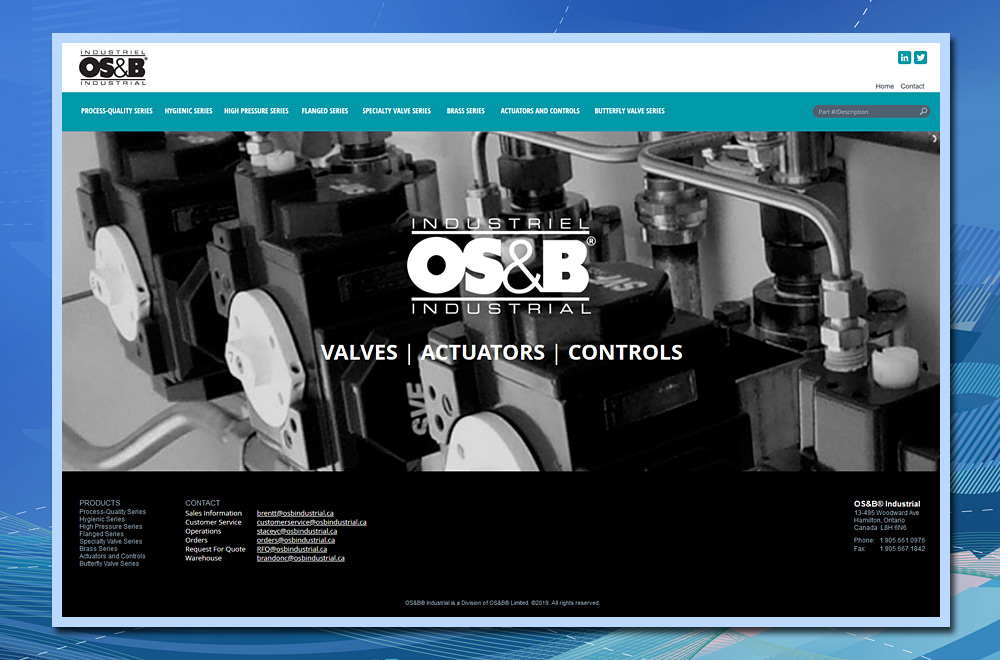 custom website design, HTML5 custom website, PHP web development, custom product website, manufacturing website