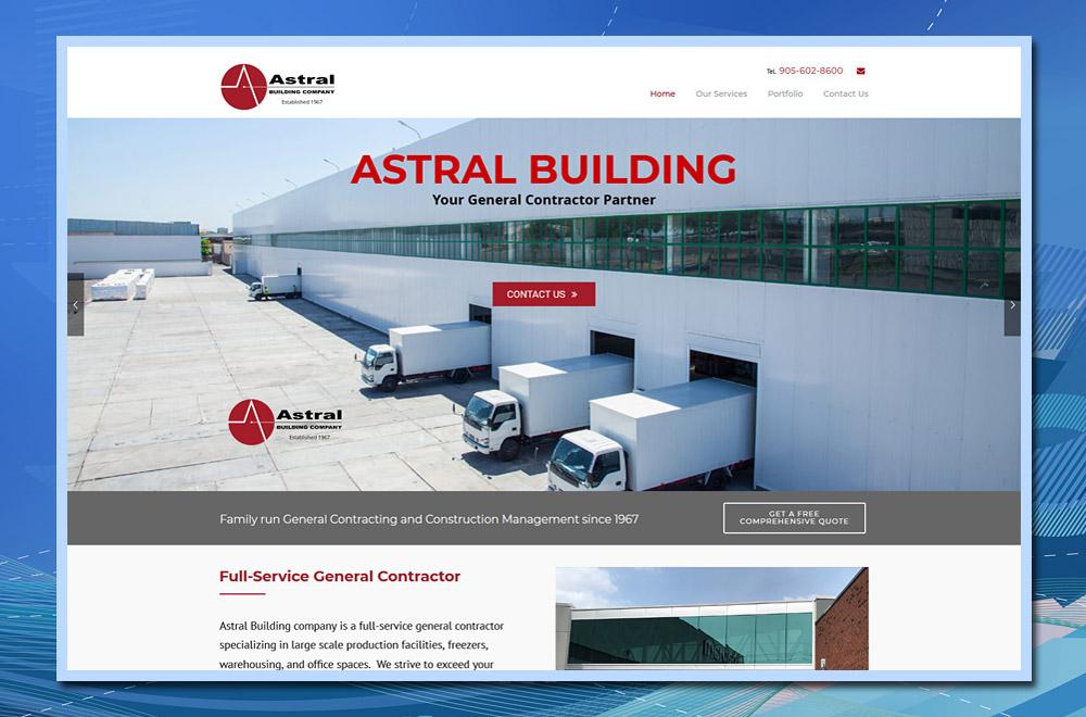 WordPress website, Astral Building Company